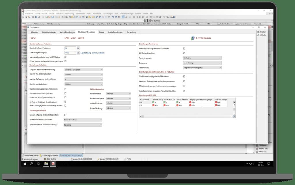 GSD Software - ERPframe Produktion Fremdfertigung Beistellung