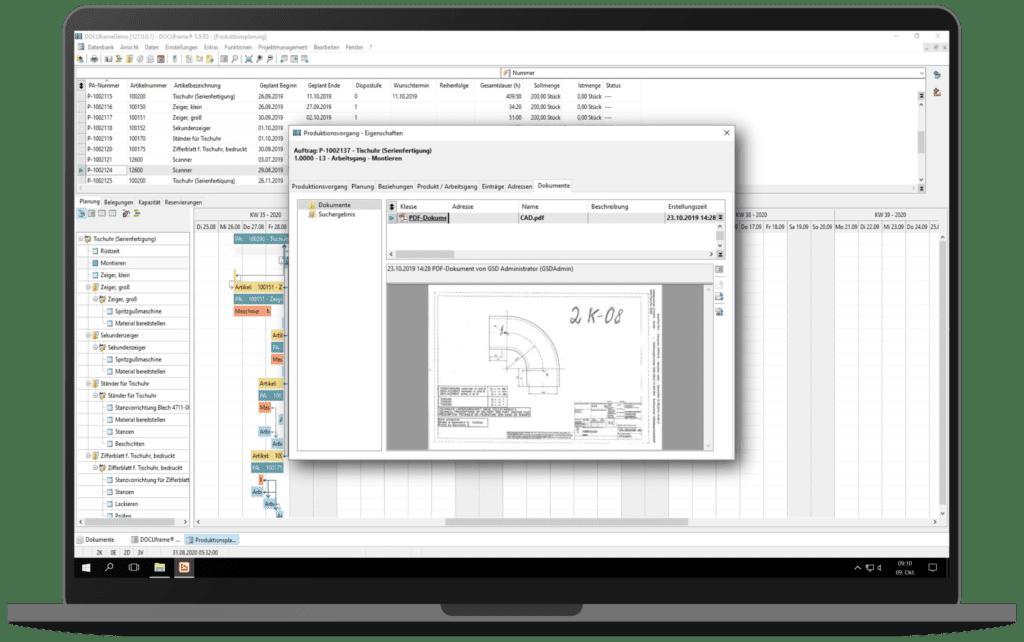 GSD Software - ERPframe - Produktion Leitstand Ressourcen
