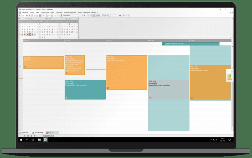 GSD Software - DOCUframe - Groupware - Gruppenkalender